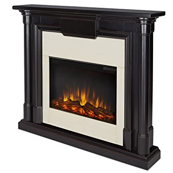 Amazon.com: Electric Fireplace in Blackwash Finish: Home & Kitchen