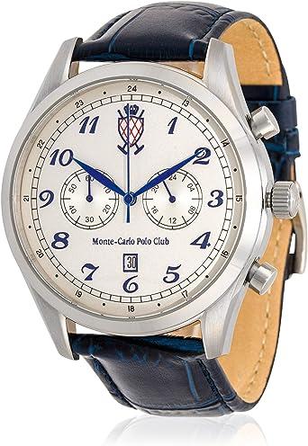 Monte-Carlo Polo Club - Reloj cronógrafo clásico para Hombre con ...