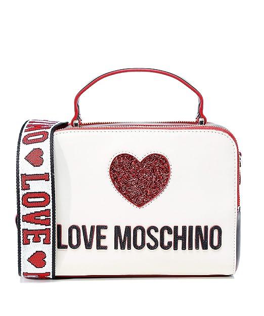 Love Moschino Moschino Donna paillettes cuore borsa fotocamera Crema Unica  Taglia  Amazon.it  Scarpe e borse dfb39a6b6c5