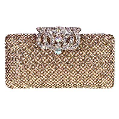 db9847e799d Amazon.com: Fawziya Cute Crown Clutch Purses For Women Clutch Evening Bag-AB  Gold: Shoes