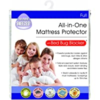 Bed Bug Blocker Hypoallergenic All In One Breathable Full Mattress Cover Encasement Protector Zippered Water Resistant Dust Mite Allergens Insects