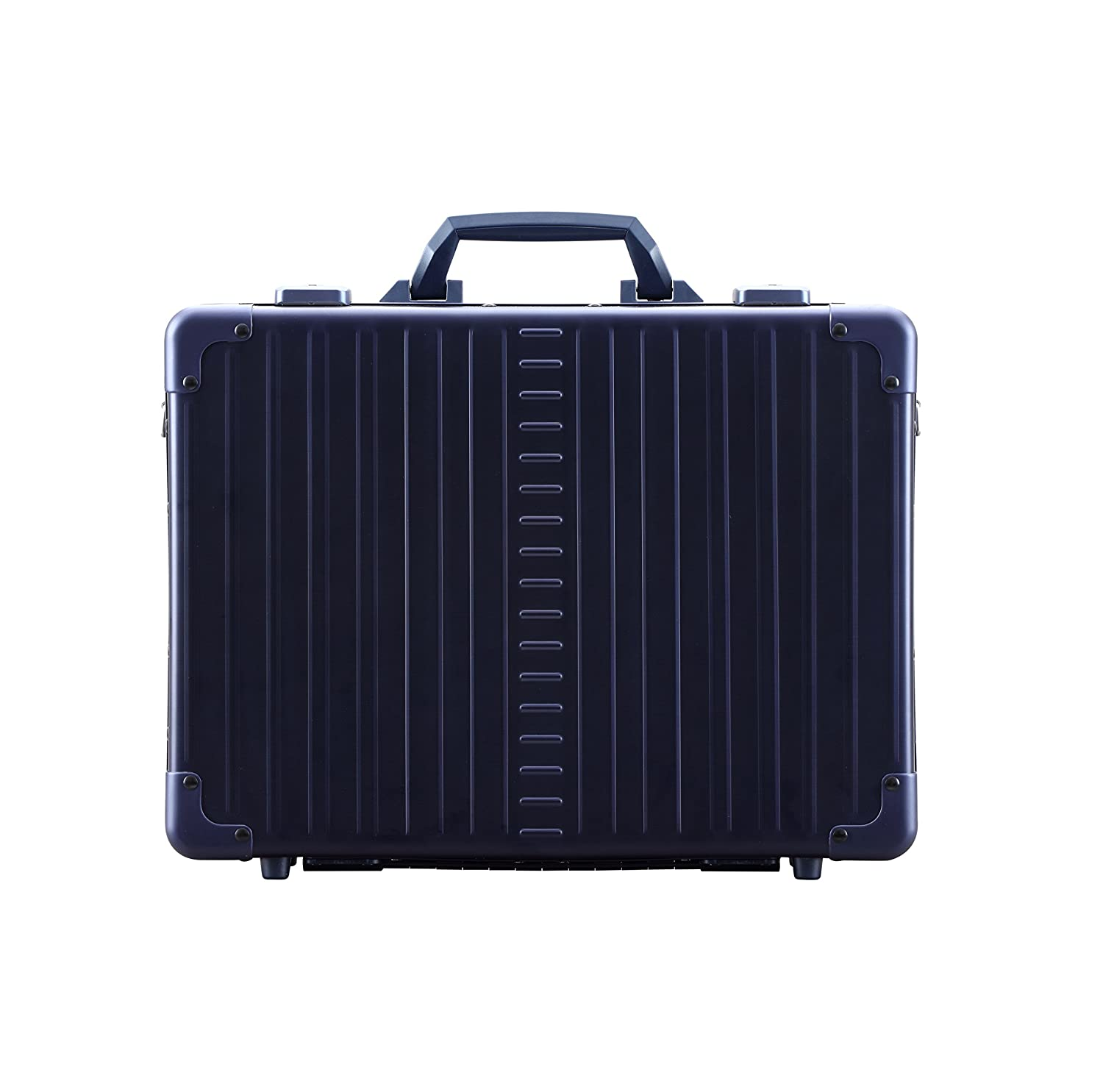 Aleon 17 Business Attache Aluminum Hardside Business Briefcase Sapphire Blue