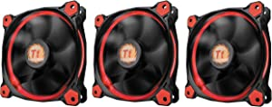 Thermaltake Islamic F055 Riing 12 LED Case Fan 3 Pack red