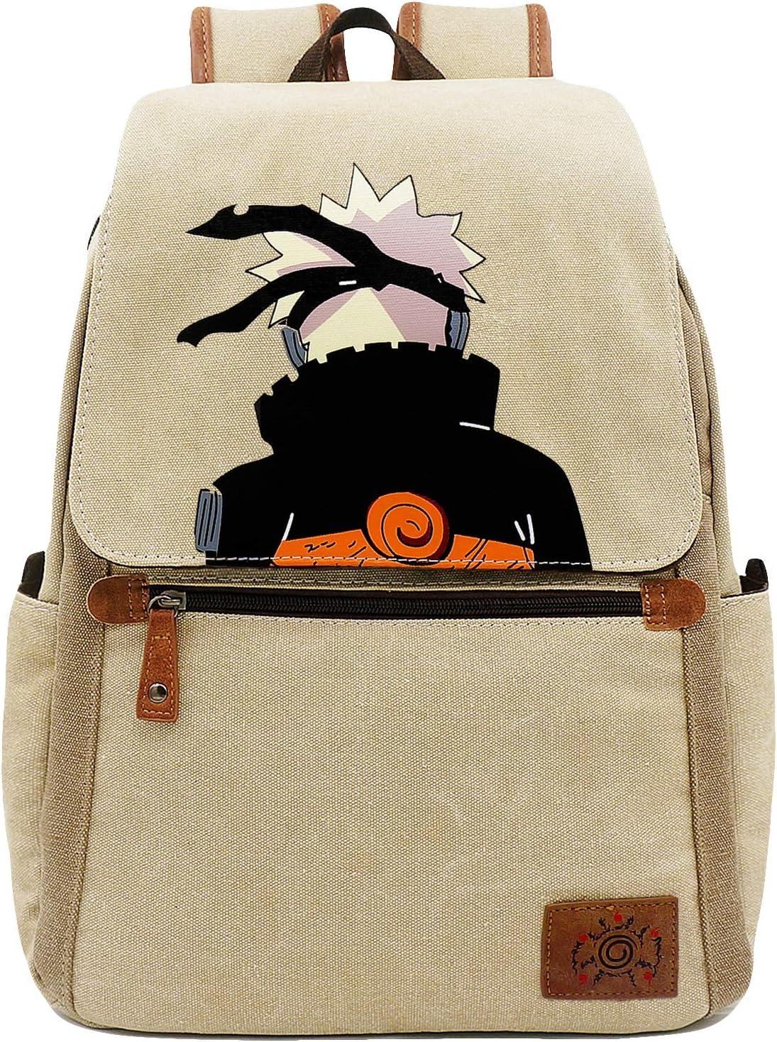 Roffatide Anime Naruto Backpack Cartoon Book Bag Casual Canvas Bag Laptop Back Pack