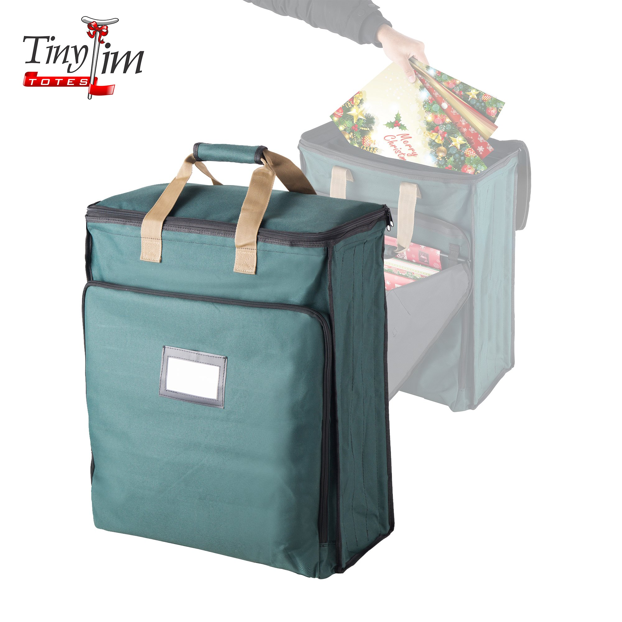 Tiny Tim Totes 83-DT5580 5730 Ultimate Organizer   Holiday Storage for Gift Wrap and Bags   Green