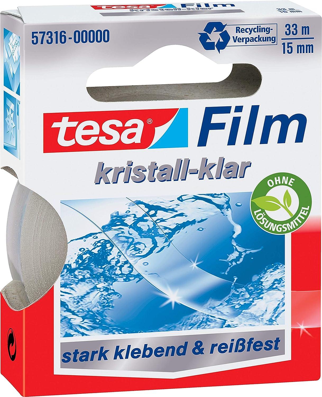 kristall-klar tesafilm Klebeband 33m x 15mm 1 Rolle