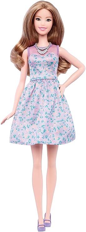 Barbie Fashionista, Muñeca con Vestido Lavanda (DVX75)