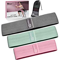Resistance Exercise Bands, Polygon Fabric Non Slip Hip Bands for Squats, Legs, Butt, Thigh and Hip Workout, Thick Wide Fitness Loop Circle for Men & Women. Workout Guide Included.