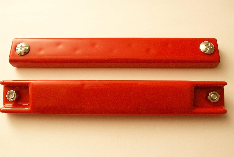 Rubber Coated Magnetic License Plate Holder Magnet Non-Scratch RED (1 Magnet) CDS Dealer Supply