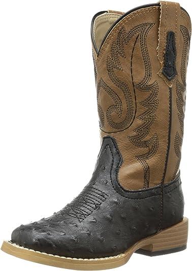 Roper Square Toe Faux Ostrich Western Boot