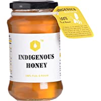 Raw Organic Honey by Indigenous Honey| Unprocessed, Unfiltered, Unpasteurized, Pure Natural Honey| an Ayurvedic Remedy for Weight Loss, Cough and Digestive Disorders. - 500 Grams