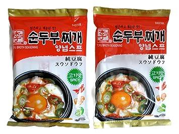 9a96fb980 Amazon.com   Korean Soup Broth Mix for Tofu Stew Soondubu Jjigae ...