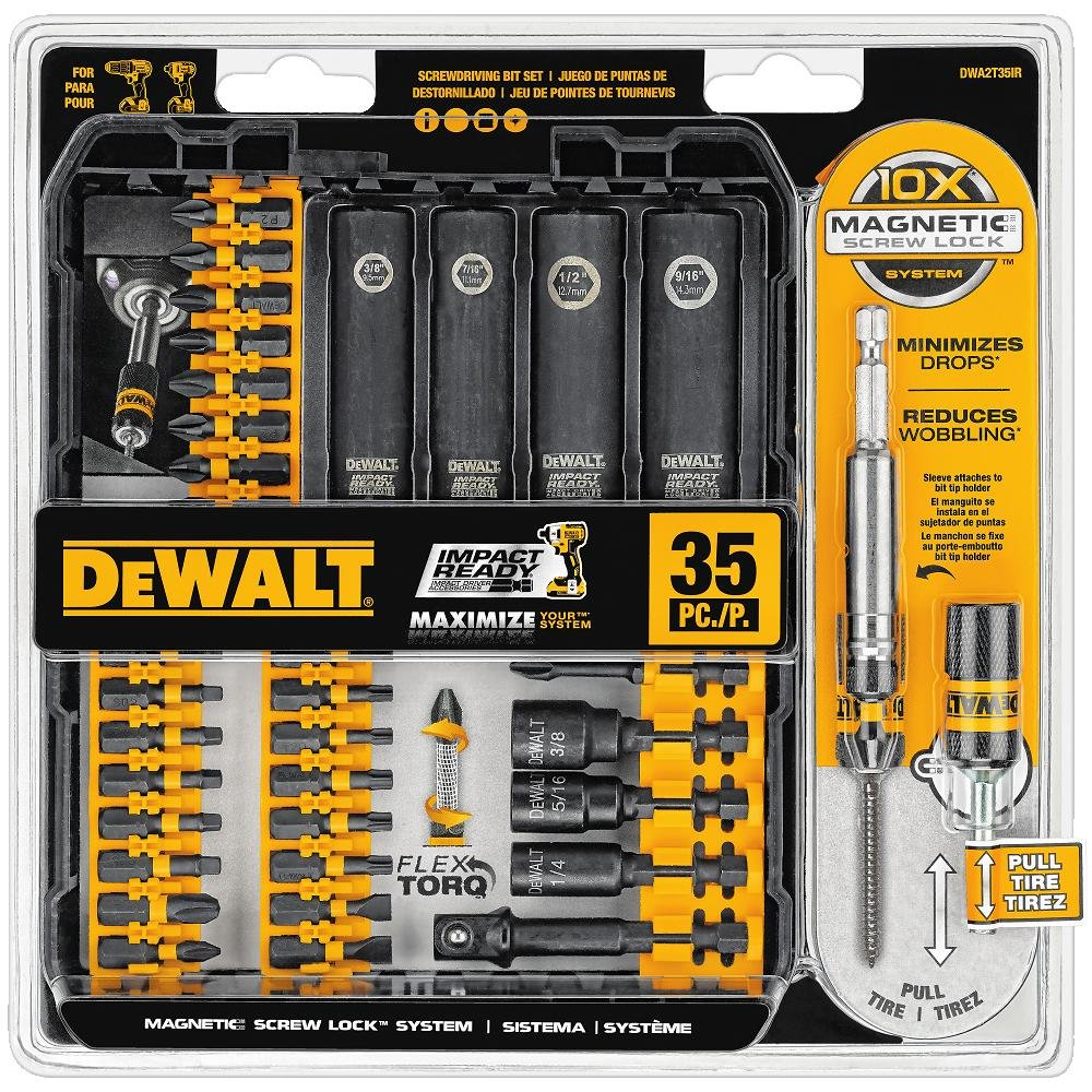 DEWALT Screwdriver Bit Set, Impact Ready, FlexTorq, 35-Piece (DWA2T35IR) by DEWALT