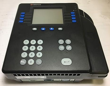 Kronos 4500 Digital Badge tiempo reloj 8602800 – 501 5793 – recargable y cable de alimentación