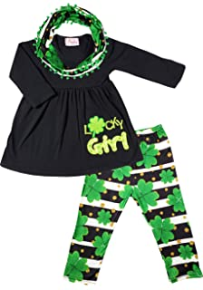 Baby Toddler Little Girls St. Patrick s Day Luck of Irish Outfit Set -  Tunic Leggings faa3d72b514a