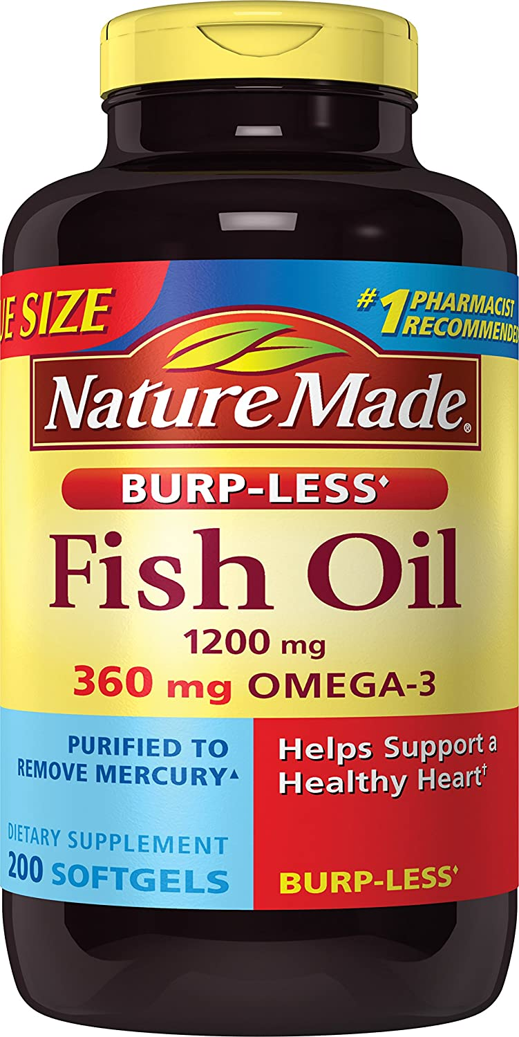 Product thumbnail for Nature Made Burpless Fish Oil