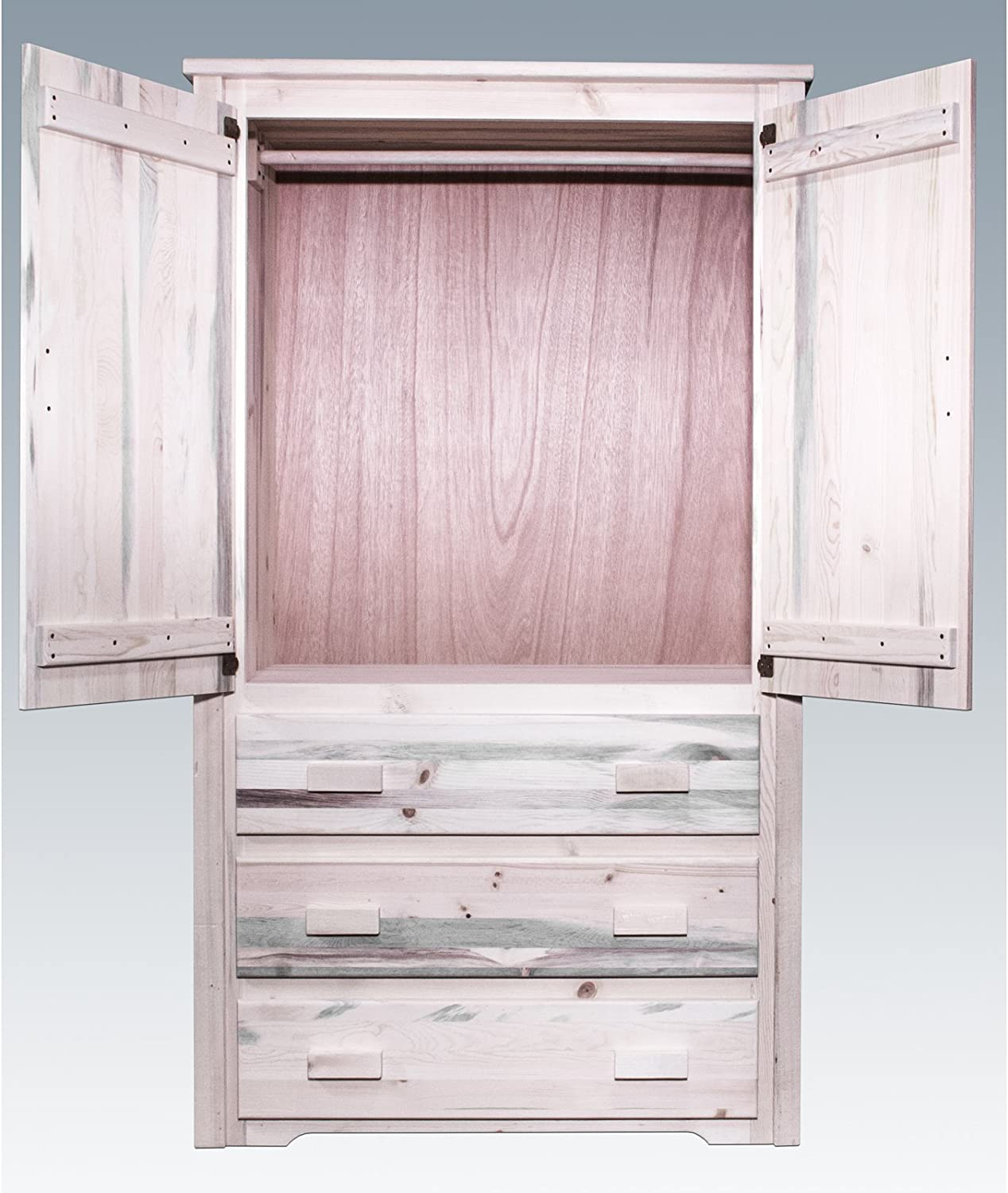 Montana Woodworks Homestead Collection Armoire//Wardrobe Stain /& Clear Lacquer Finish