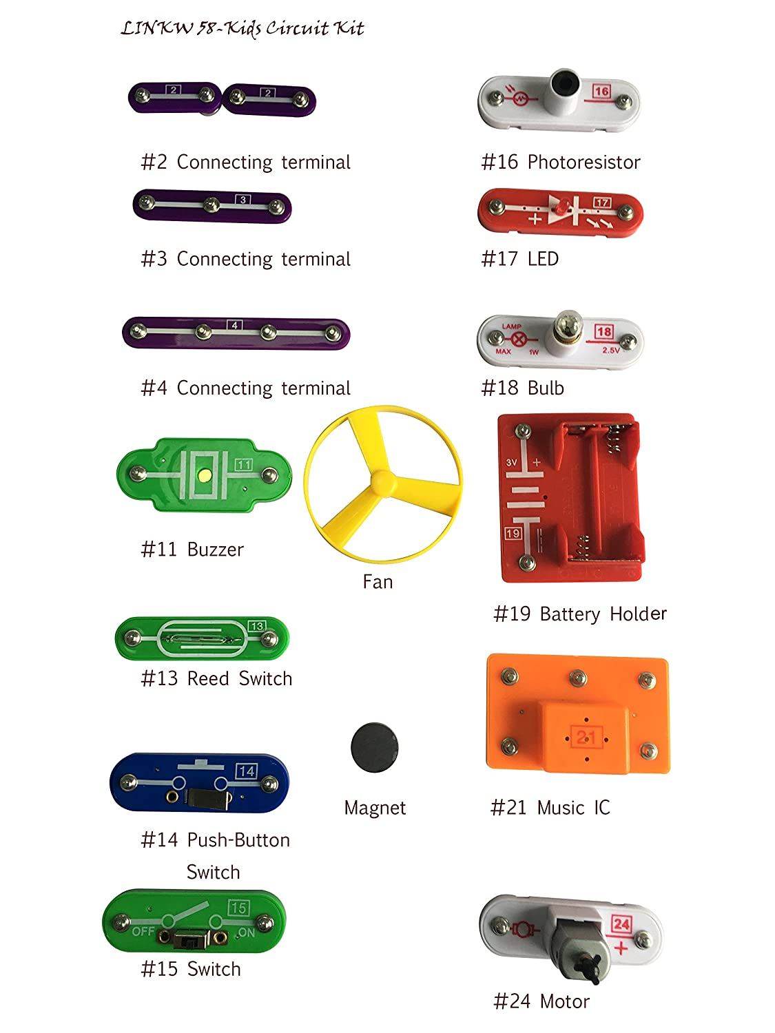 Ezlink 58 Diy Circuit Experimentsscience Kitselectronic Discovery More Doorbell Circuits Pushbutton Switches Hobby Category Kit Toy For Kidskids Circuitskids Kitscience Experiments Kidsexperiments