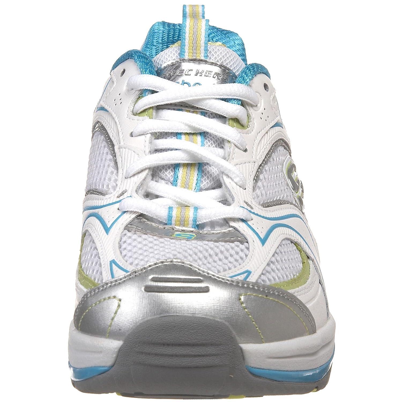 Skechers Women's Shape Ups XF Accelerators Fashion Sneaker B00377GT26 7.5 B(M) US White/Light Blue/Gray