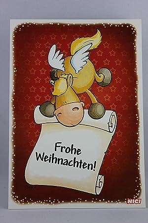 Frohe Weihnachten Pferd.Nici 60144 Postkarte Weihnachten Pferd Frohe Weihnachten
