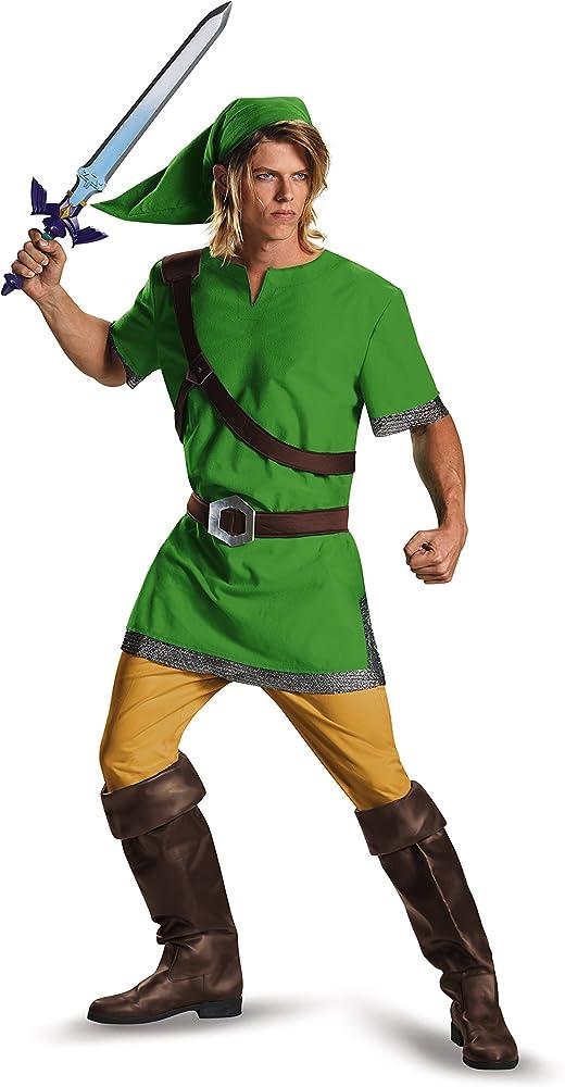 Link Costume Adult Legend of Zelda Halloween Fancy Dress