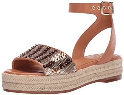 7cc358319c5 Vince Camuto Women's Kathalia Espadrille Wedge Sandal Gold 8 Medium US
