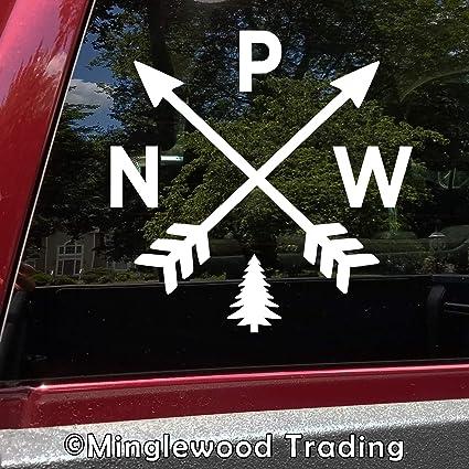 PACIFIC NORTHWEST VINYL DECAL STICKERS WINDOW WASHINGTON EXPLORE PNW NORTHWEST