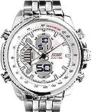 Skmei Analog-Digital Black Dial Men's Watch - 993-White
