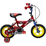 "Sonic Kap-Pow Boys' Kids Bike Red/Blue, 8"" inch steel frame, 1 speed adjustable easy-reach levers padded comfort saddle"
