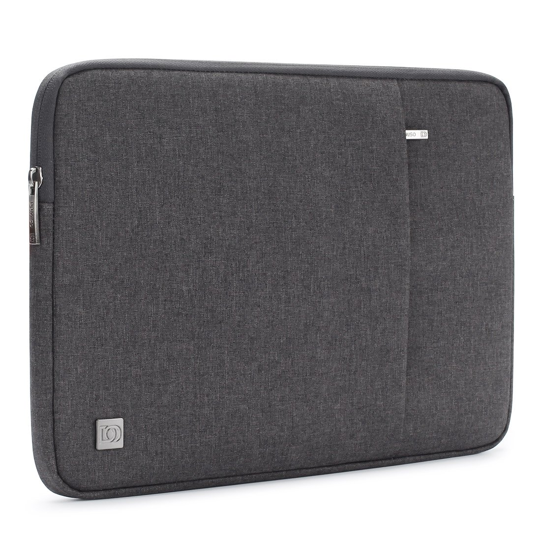 DOMISO 15.6 Inch Laptop Sleeve Case Water-Resistant Notebook Tablet Protective Skin Cover Briefcase Carrying Bag Pouch for 15.6'' Computers / Lenovo / Acer / ASUS / HP / Dell, Dark Grey