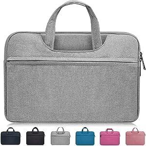 "14-15 Inch Laptop Bag,Waterproof Laptop Sleeve Case for Acer Chromebook 14, HP Pavilion X360 14"",Lenovo Yoga 910/920 13.9"",Dell Latitude 14"",LG Gram 14,ASUS ZenBook 14 Inch Laptop Chomrebook Case,Gray"