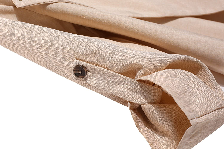 HOTOUCH Damen Trenchcoat Cardigan 3//4 /Ärmel Aufgerollt Locker Lange Casaul Trenchcoat-Jacke