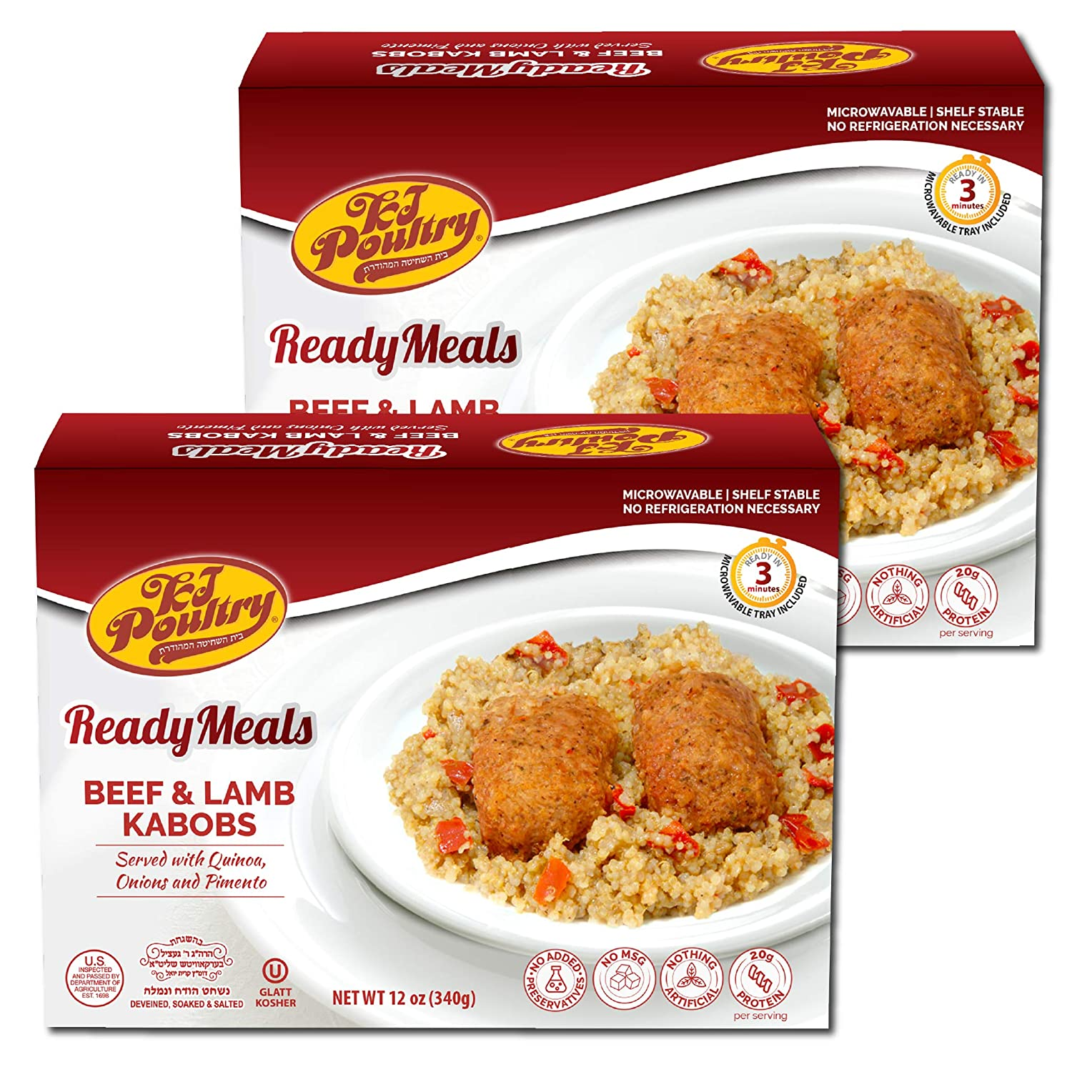 Kosher MRE Meat Meals Ready to Kabob Special price for a limited time 2 Quinoa Eat Lamb Beef Max 78% OFF