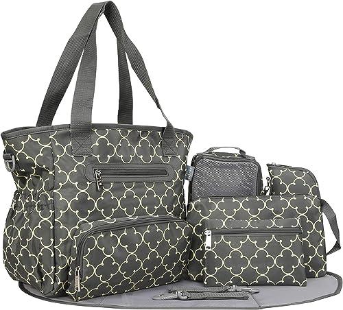 SoHo Collection 7 Pieces Diaper Bag set