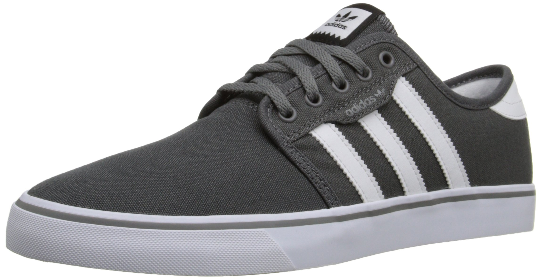 adidas Originals Men's Seeley Skate Shoe,Ash Grey/White/Black,8 M US