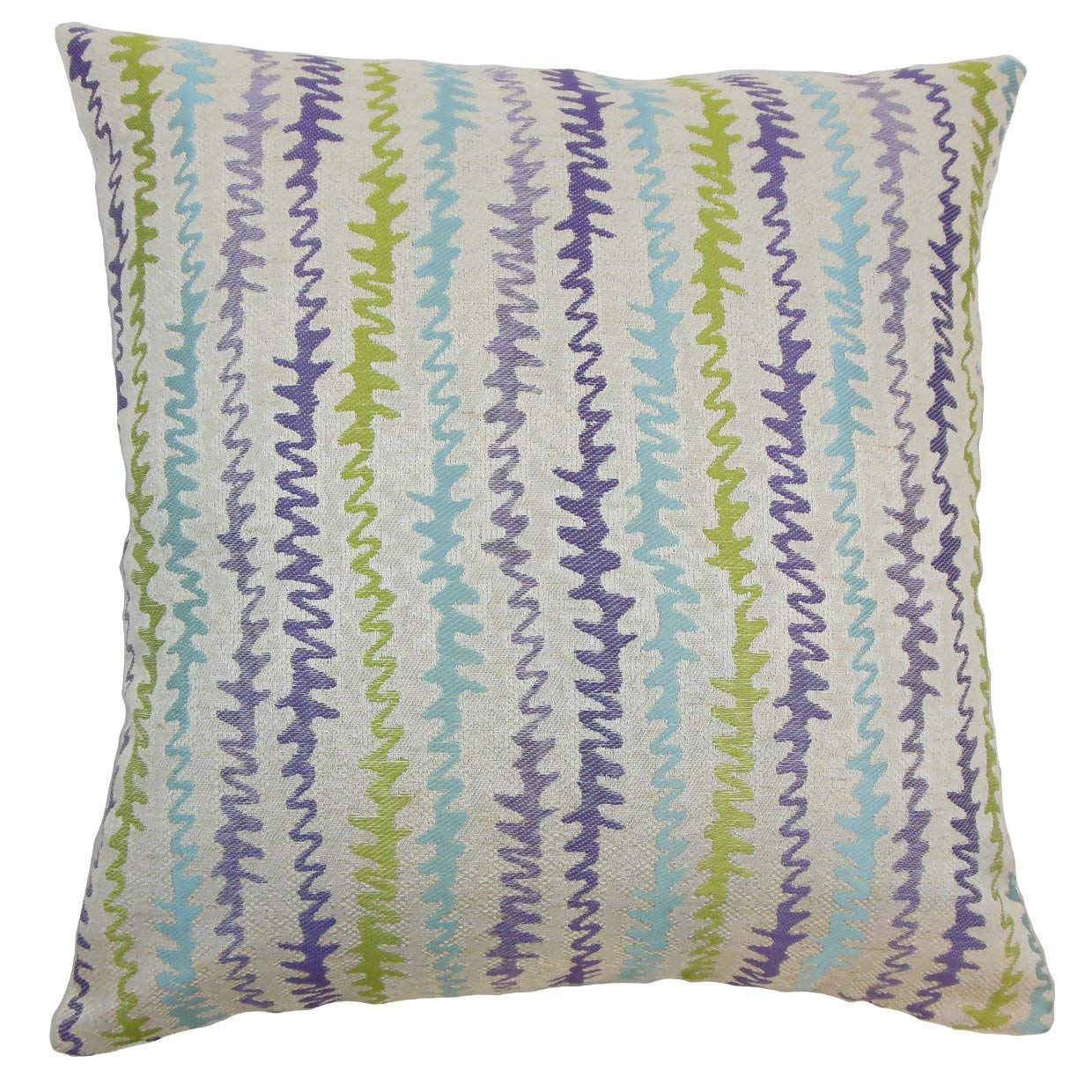 The Pillow Collection Malu Zigzag Kismet Down Filled Throw Pillow