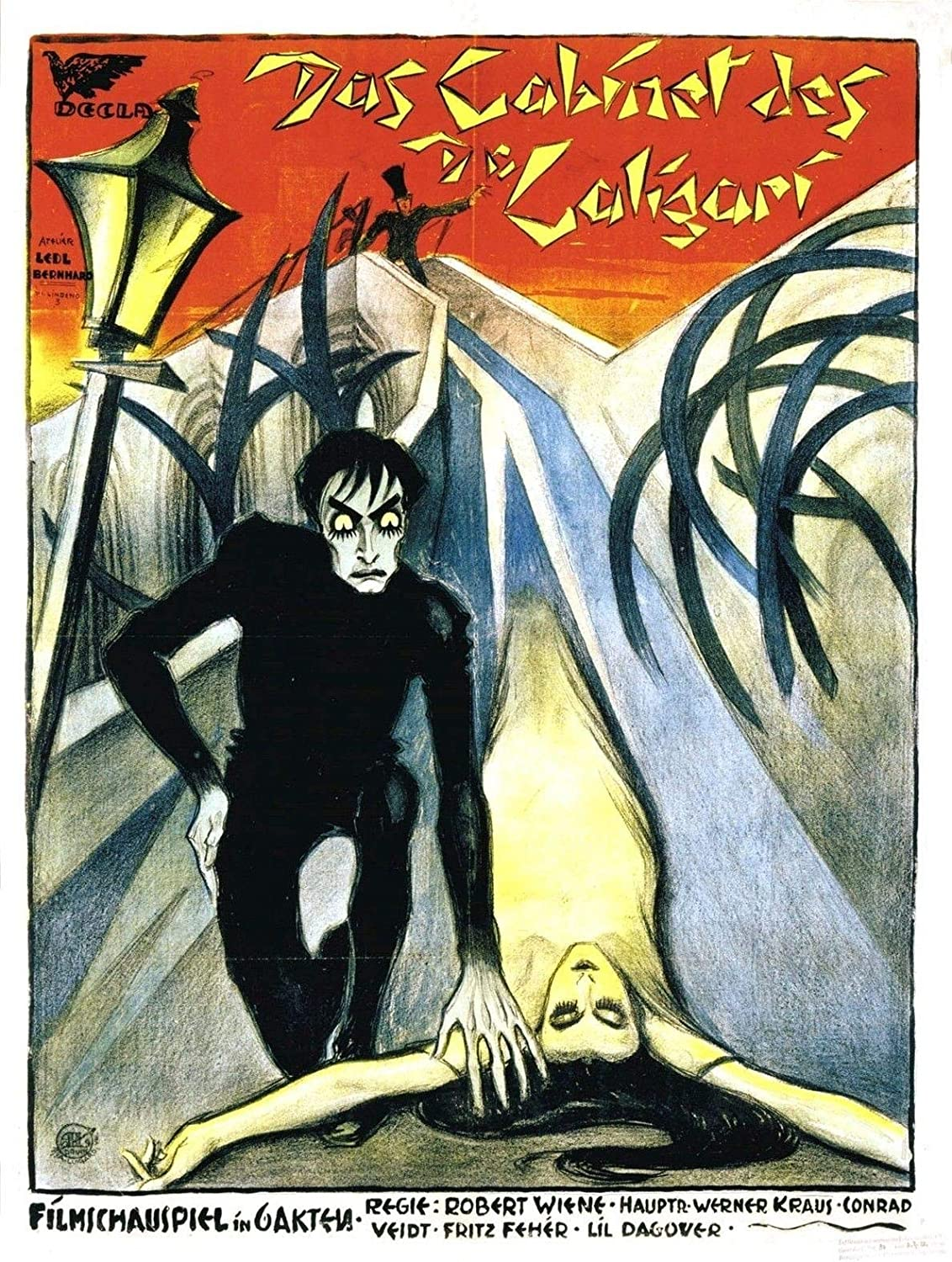 72514 The Cabinet of DR. Caligari Movie 1920 Classic Decor Wall 36x24 Poster Print
