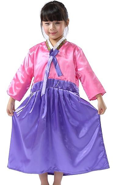 Amazon.com: Chicas coreanas Hanbok Heritage Cosplay Niñas ...