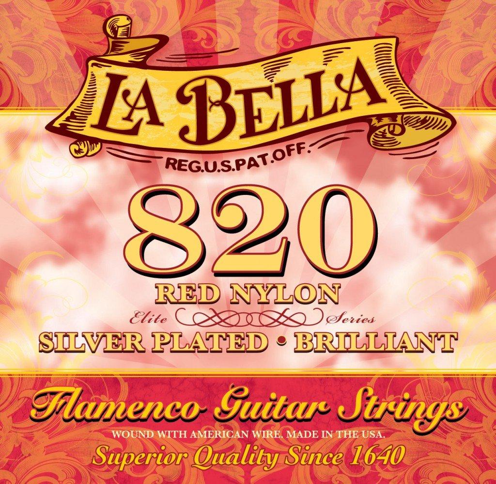 Juego de cuerdas para flamenco La Bella 7D76 color rojo