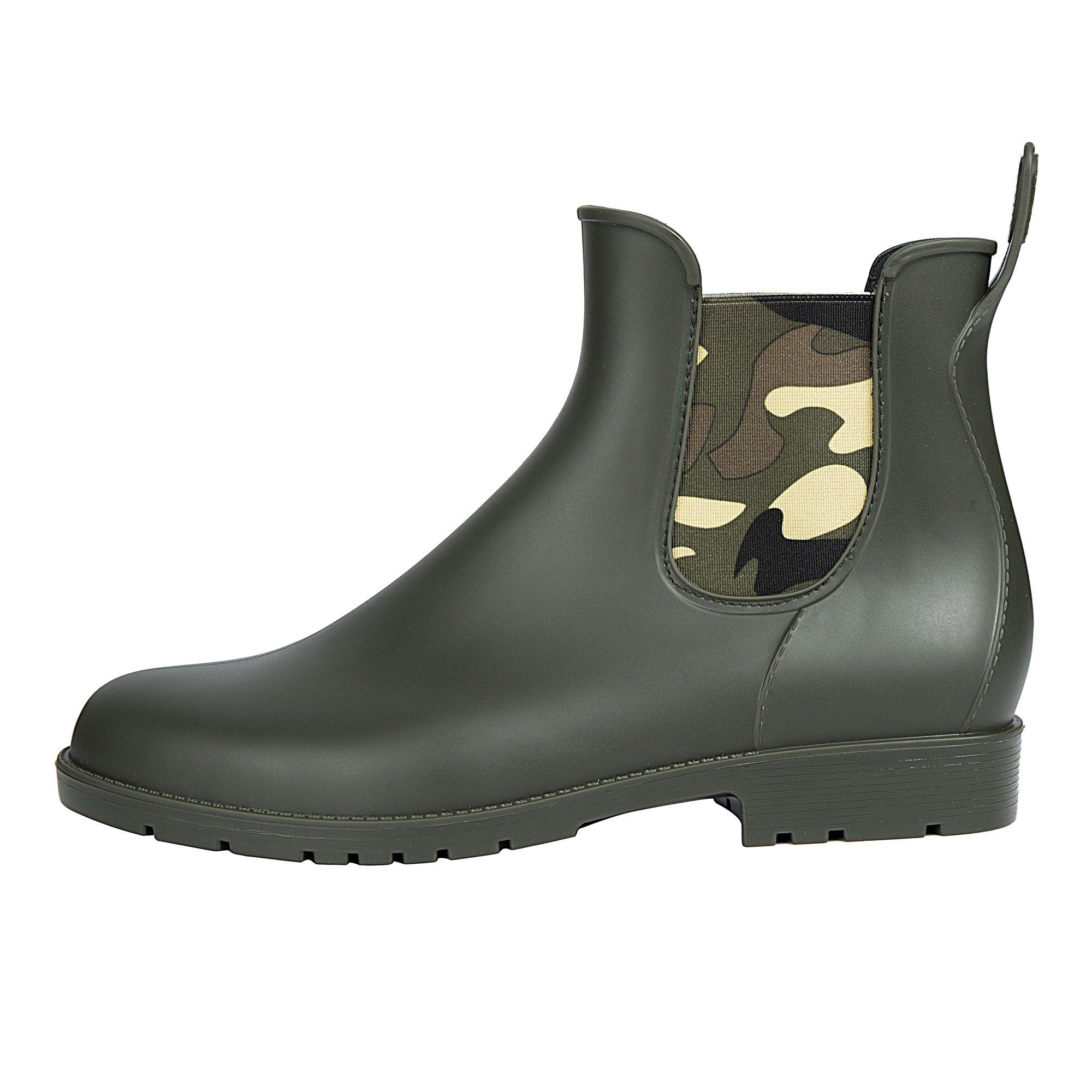 Asgard Girl's Waterproof Chelsea Rain Boots Short Ankel Snow Boots for Kids CA34 by Asgard (Image #2)