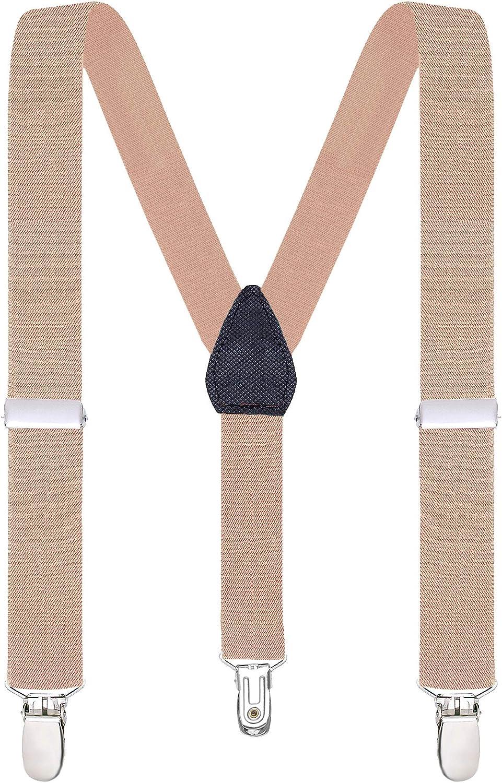 Buyless Fashion Tirantes el/ásticos y ajustables para ni/ños y beb/és con clips plateados y duraderos de 2,5 cms