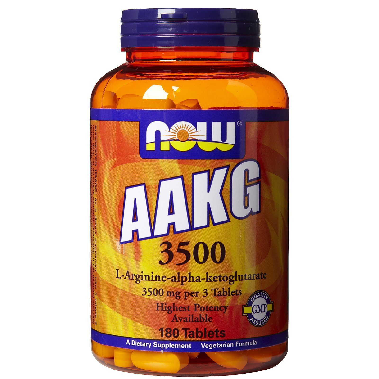 Now Foods AAKG 3500 - 180 Tabs 4 Pack