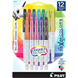 PILOT FriXion Colors Erasable Marker Pens, Bold Point, Assorted Color Inks, 12 Count (44155)
