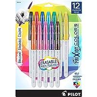 PILOT FriXion Colors Erasable Marker Pens, Bold Point, Assorted Color Inks, 12 Count (44155)