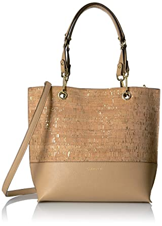 2ae6a21a4 Amazon.com: Calvin Klein Sonoma Reversible Novelty North/South Tote,  cork/nude: Clothing