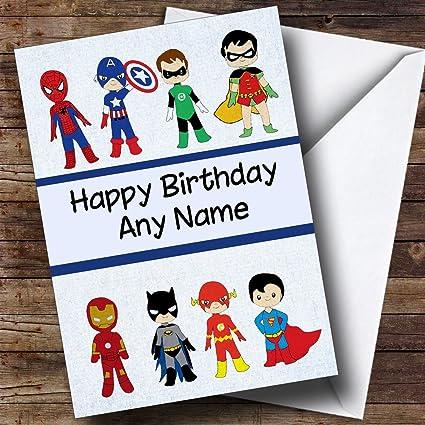Superhéroe colección personalizada de los niños cumpleaños ...