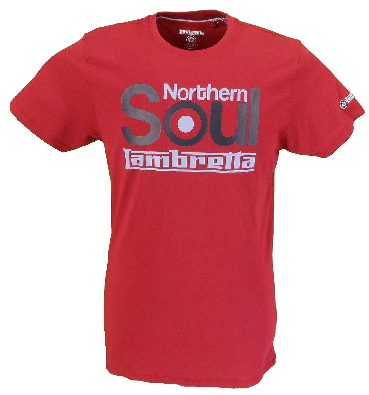 Lambretta Retro Navy Striped 100/% Cotton T Shirt …