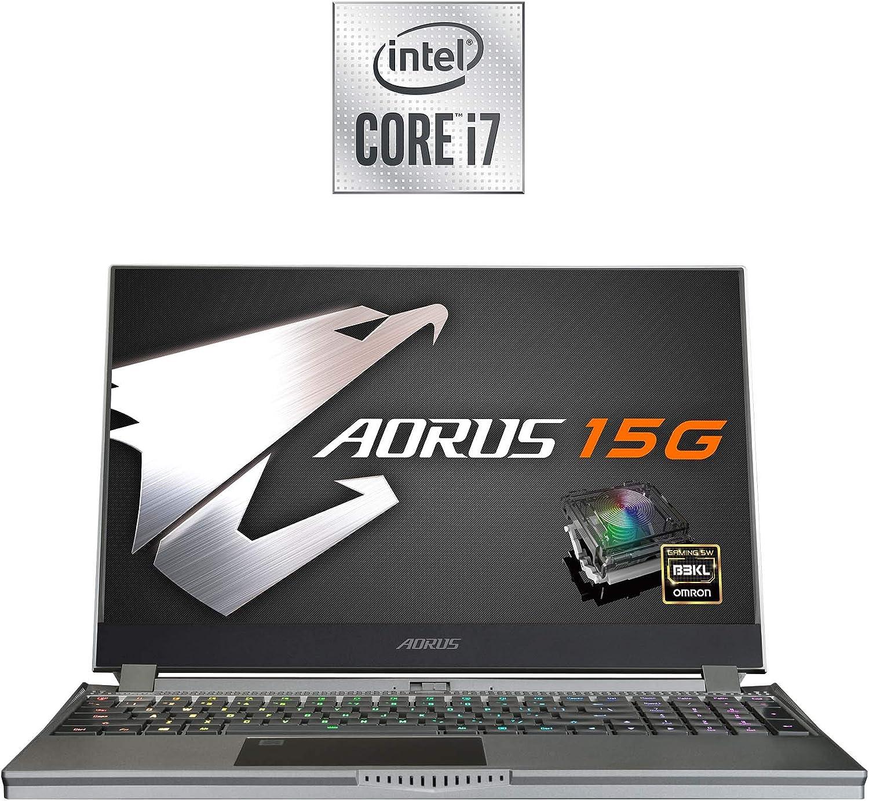 [2020] AORUS 15G (WB) Performance Gaming Laptop, 15.6-inch FHD 300Hz IPS, GeForce RTX 2070 Max-Q, 10th Gen Intel i7-10875H, 16GB DDR4, 512GB NVMe SSD