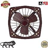 A&Y Shivako Copper Fresh Air Exaust Fan for Kitchen/Bathroom (Blade Size 300 MM/12 Inches) Black