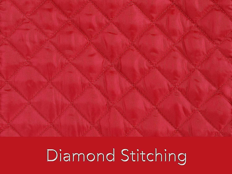 14 x 9 x 17inch Red DesignerBox Housse de m/élangeur en cuir avec support de rangement en forme de losanges pour cuisiner propre et en s/écurit/é